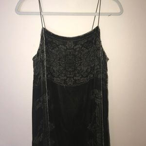 Anthropology velvet dress